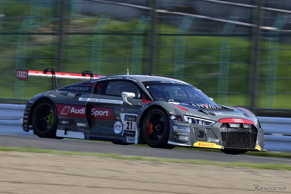 SUPER GTに参戦するAudi Team Hitotsuyama 『Audi R8 LMS』(鈴鹿10H参戦時)。《撮影 雪岡直樹》