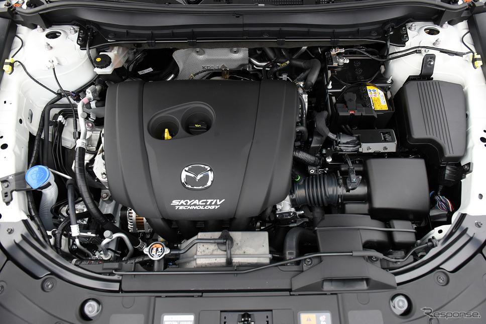 マツダ CX-8 改良新型に搭載される2.5リットル自然吸気エンジン「SKYACTIV-G 2.5」《撮影 中野英幸》