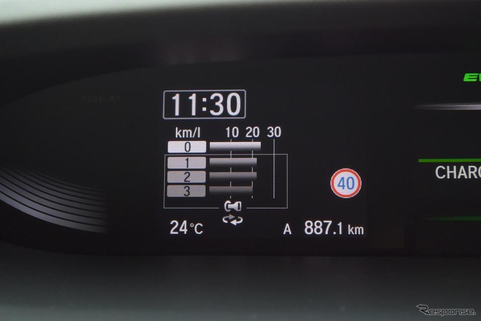 ロングラン燃費はミニバンとしては望外の良さだった。《撮影 井元康一郎》