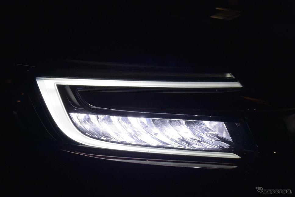 LEDヘッドランプは自動ハイビーム機構を持たない。ただし配光特性は良く、夜間走行時の不安はそれほど大きくない。《撮影 井元康一郎》