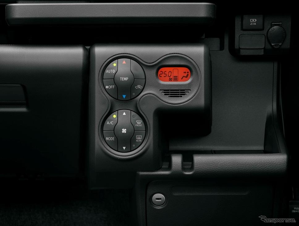 トヨタ・プロボックス/サクシード、オートエアコン&プッシュ式ヒートコントロールパネル(ハイブリッド車)