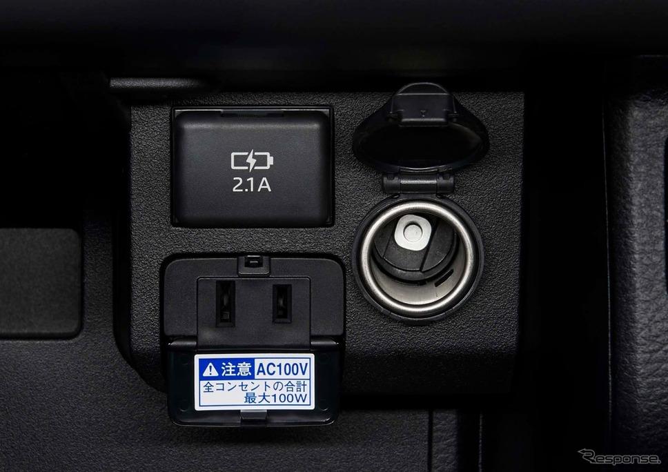 トヨタ・プロボックス/サクシード、アクセサリーソケット&アクセサリーコンセント&充電用USB端子