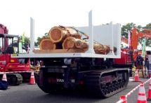 荷台ごと積み替え---林業の効率化、アクティオが新型車両レンタル開始