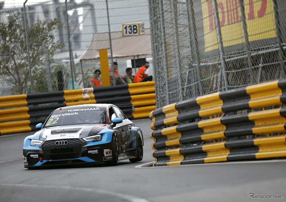 WTCRマカオ戦のレース2を制した#22 ベルビッシュ(アウディ)。《写真提供 Audi》