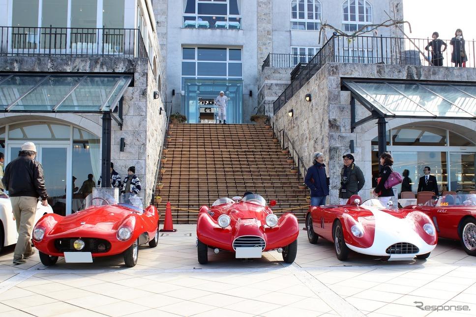左からナルディ 750SLM、ジャウルタラスキ 750S、バンディーニ 750サポネッタ《撮影  内田俊一》