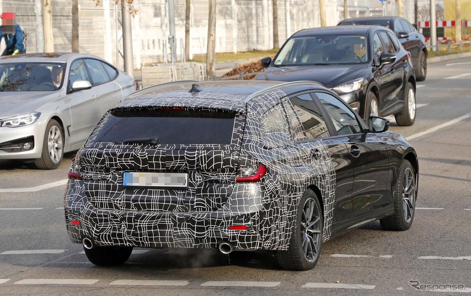 BMW 3シリーズツーリング 次期型スクープ写真《APOLLO NEWS SERVICE》
