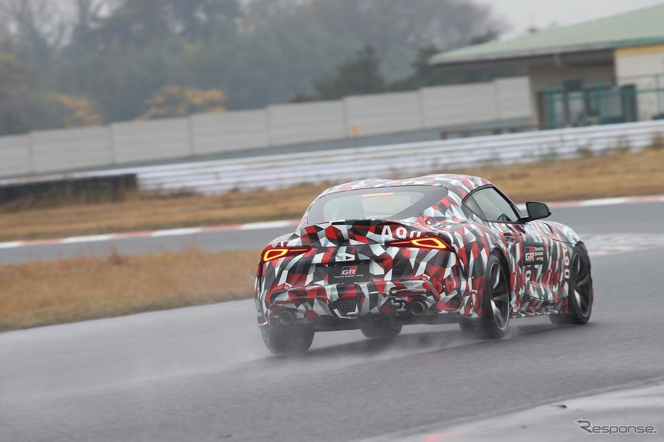 日本でも公開されたトヨタ スープラ プロトタイプ《撮影 佐藤靖彦》