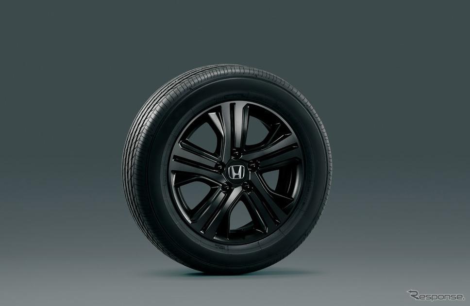 ホンダ ステップワゴン スパーダ ブラッククリア塗装16インチアルミホイール(スパーダ ハイブリッド専用デザイン)