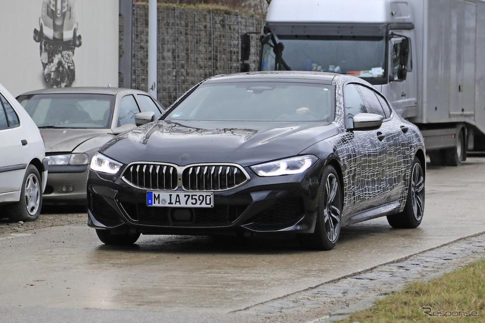BMW 8シリーズグランクーペ「M850i」スクープ写真《APOLLO NEWS SERVICE》