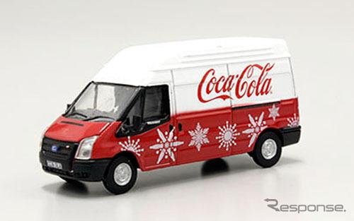 OXFORD 1/76scale Ford Transit MK5 LWB High Coca Cola Xmas