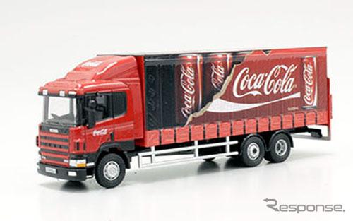 OXFORD 1/76scale Scania 94D 6 Wheel curtain side Coca Cola