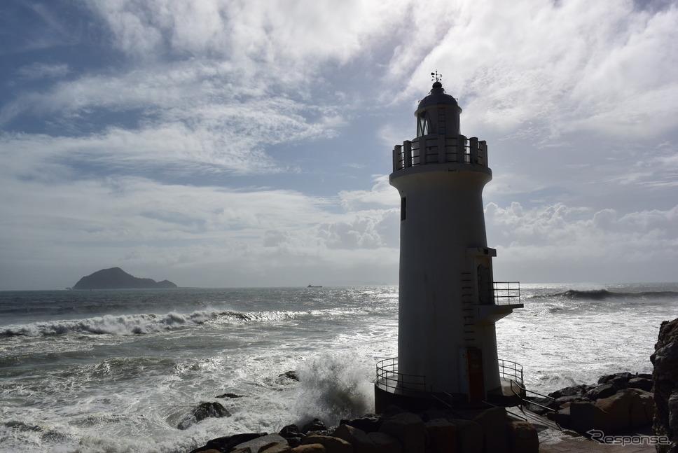 伊良湖岬灯台。《撮影 井元康一郎》