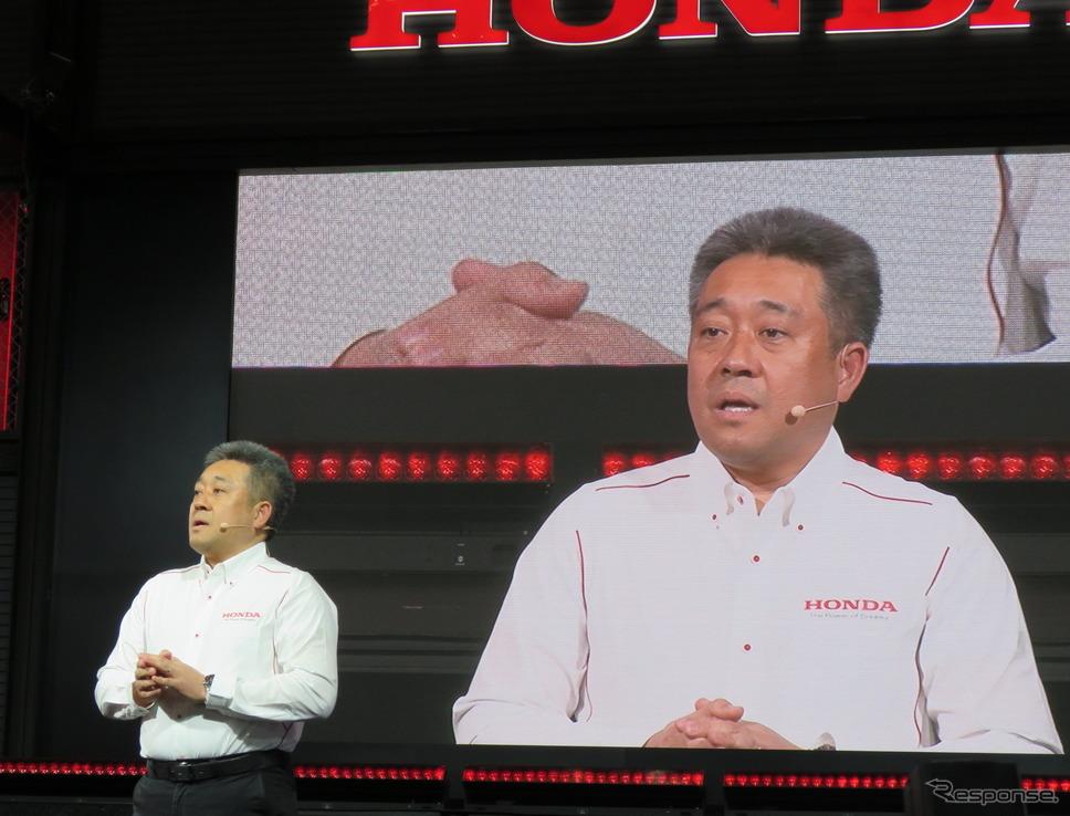 ホンダの山本雅史モータースポーツ部長。《撮影 遠藤俊幸》