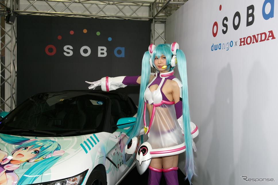 コスプレイヤーえなこ、シースルー初音ミク衣装でホンダ S660 とコラボ…東京オートサロン2019