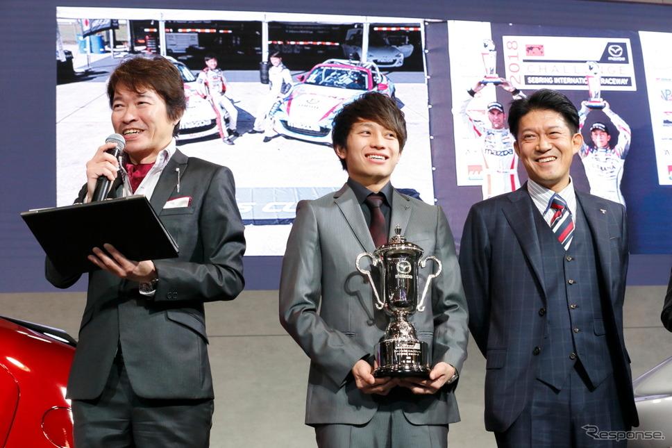 グローバルMX-5カップジャパンシリーズ表彰式(東京オートサロン2019)