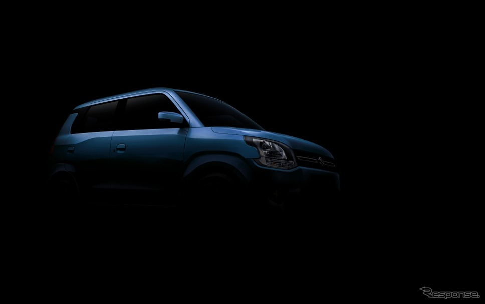 インド向けスズキ・ワゴンR 新型のティザーイメージ