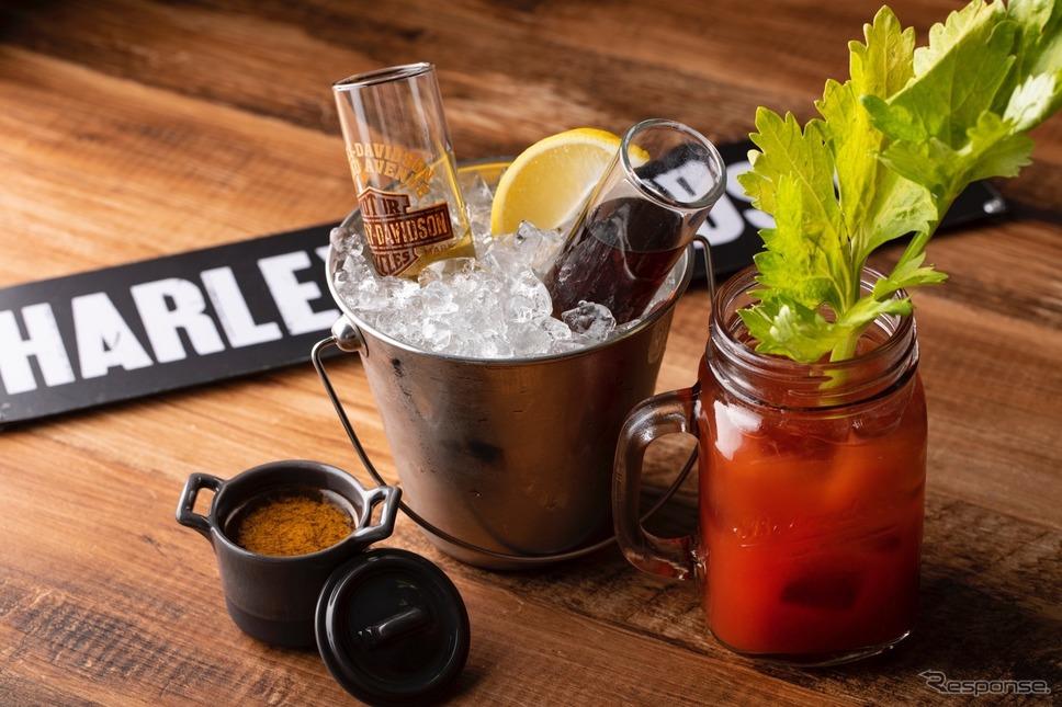 1903年の初代ハーレーの排気量にちなんで「409」と名付けられたカクテル。トマトジュースがベースなのは当時のキャブレターがトマトの空き缶を加工したものだったから。