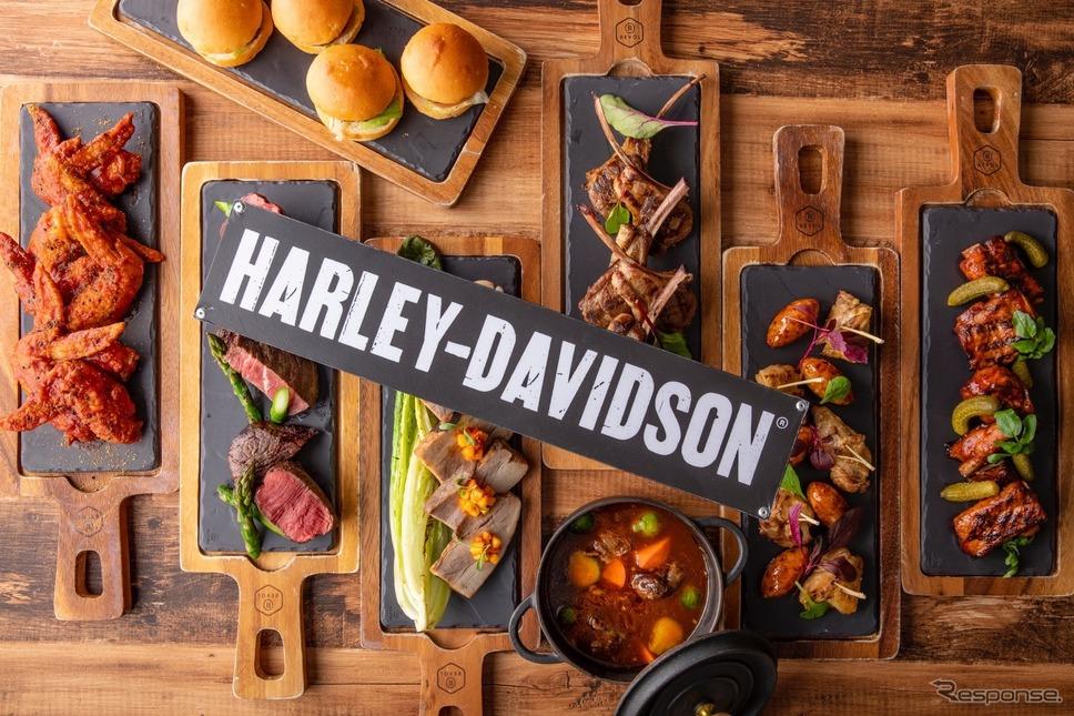 日曜限定ディナーの「肉ビュッフェ」ハーレーハンバーガーなど全13種類の肉料理やサラダなどが食べ放題。