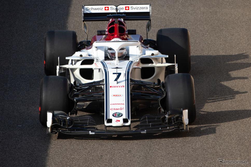 アルファロメオ・ザウバーF1チーム(2018年、シーズン終了後のテスト:ライコネン搭乗) (c) Getty Images