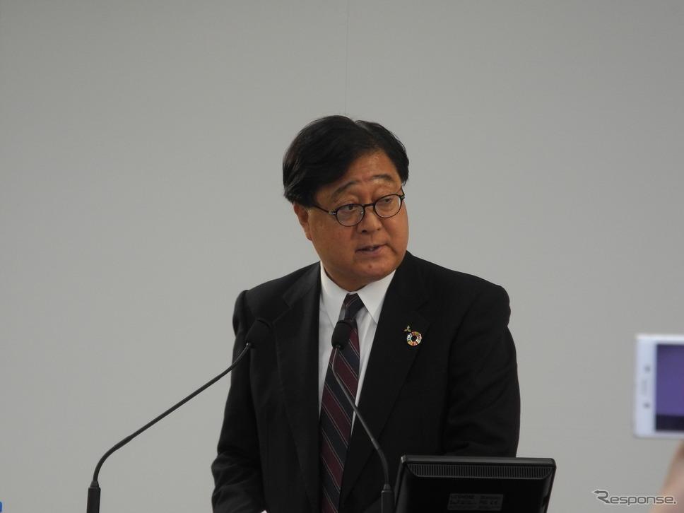 三菱自動車の益子修会長兼CEO《撮影 山田清志》