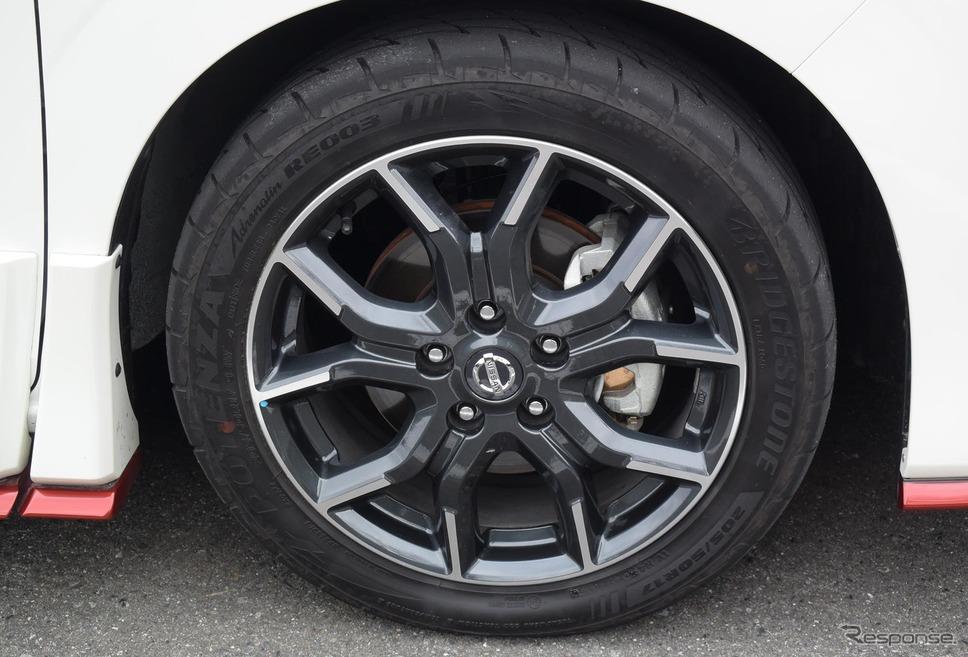 タイヤはブリヂストン「ポテンザ アドレナリン RE003」。サイズは205/50R17。《撮影 井元康一郎》