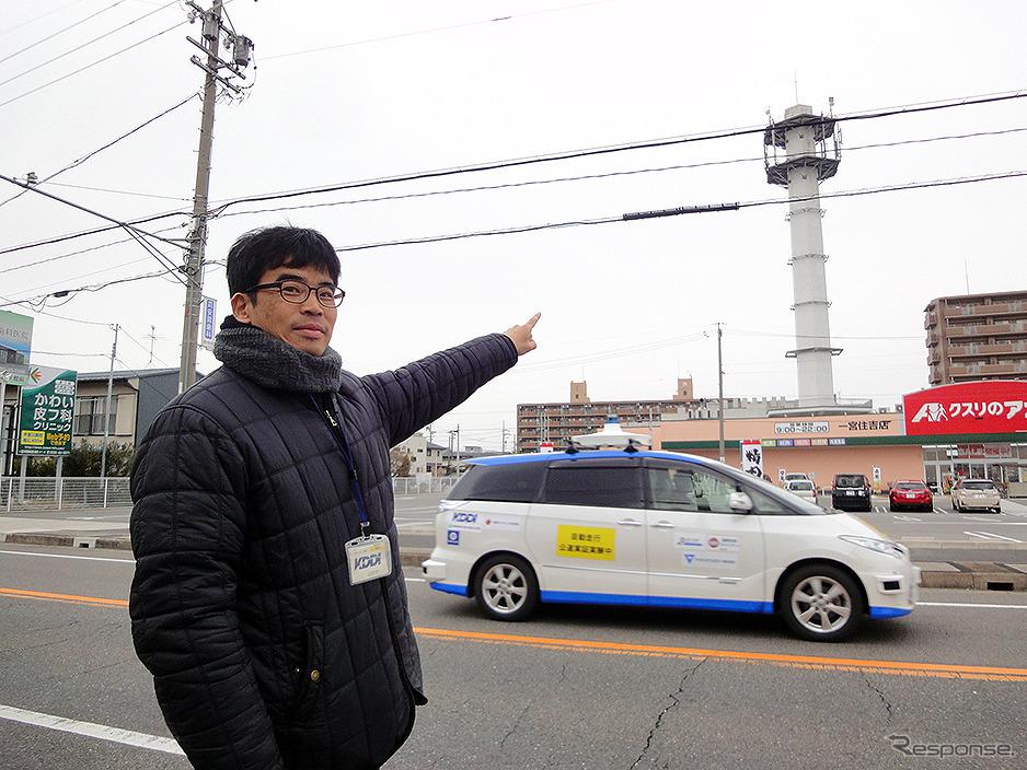 国内初「5Gで複数台の自動運転実験車を遠隔監視」実証実験(愛知県一宮市/KDDI名古屋ネットワークセンター/2月9日)《撮影:大野雅人(Gazin Airlines)》