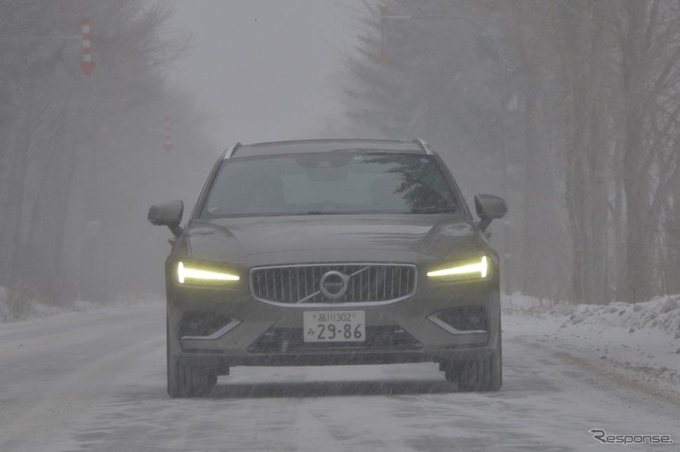 【ボルボ V60 新型試乗】過酷な冬の北海道 ボルボV60は何を魅せる…伊藤梓《撮影 レスポンス編集部》