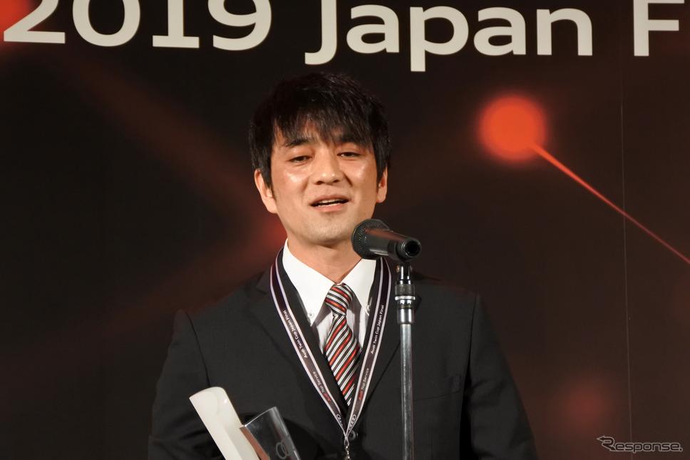 アウディツインカップ テクノロジー部門優勝者 アウディ芝浦の齋藤勇氏《撮影 小松哲也》
