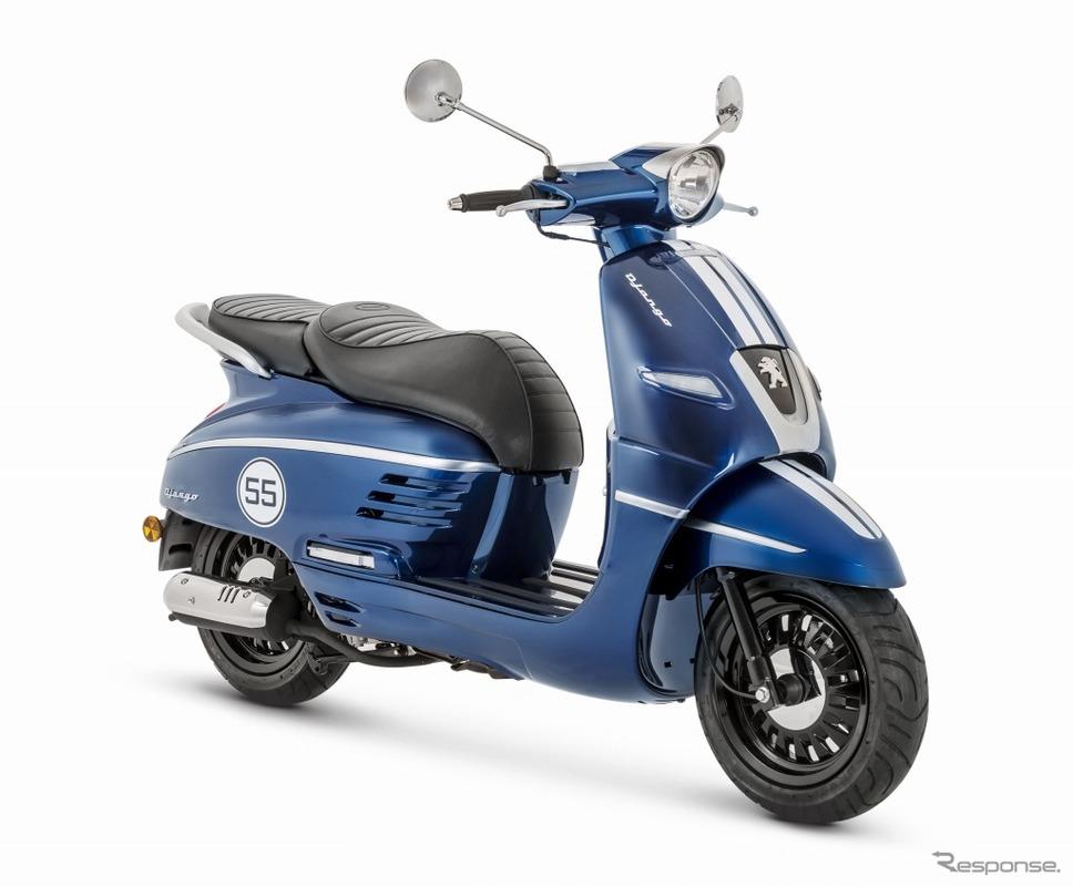プジョーモトシクルから原付免許で乗れる50ccのジャンゴが登場。写真はプジョー ジャンゴ50スポーツ