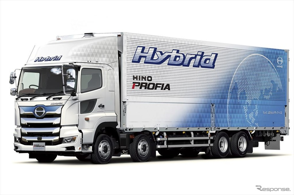 ハイブリッドトラックの例:日野プロフィア・ハイブリッド