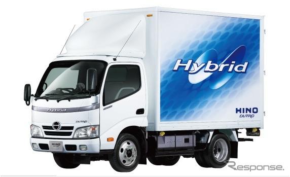 ハイブリッドトラックの例:日野デュトロ・ハイブリッド