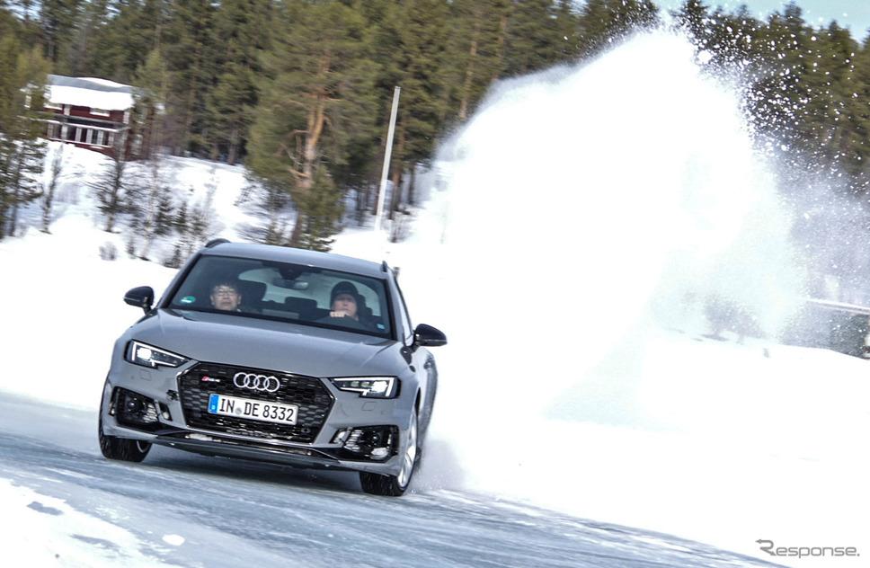 リピーターが多いという「アウディ・アイス・エクスペリエンス・イン・スウェーデン」。RS4アバントで走った《撮影 宮崎壮人》