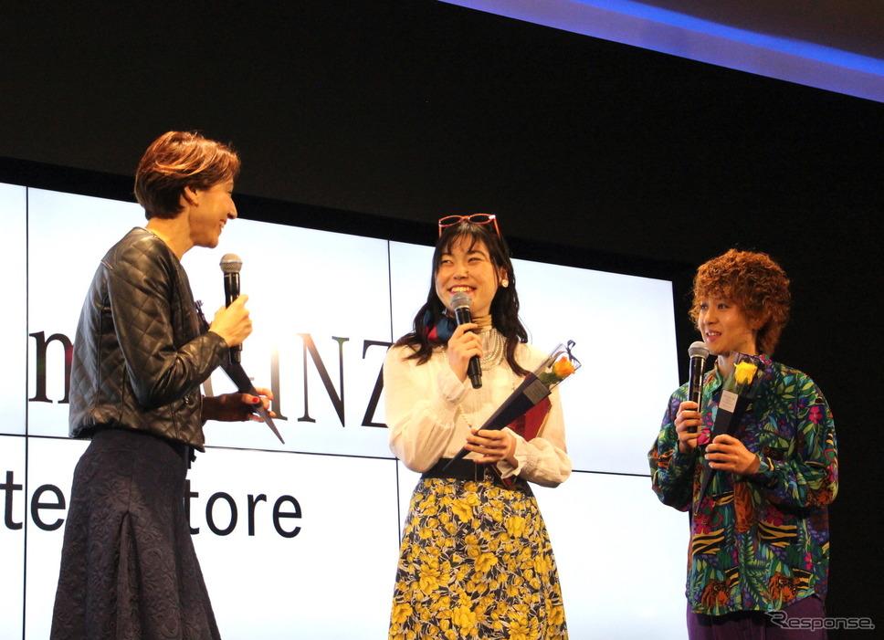 左から、道端カレン、尼神インターの誠子、渚《撮影 吉田瑶子》