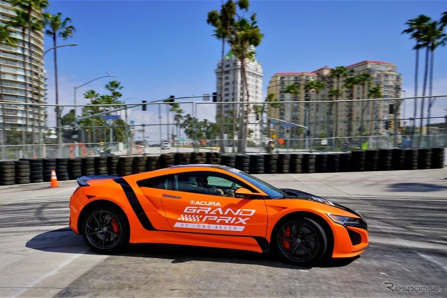 米国カリフォルニア州ロングビーチ市街地コースで市販車最速ラップタイムを記録したアキュラ(ホンダ )NSX 改良新型