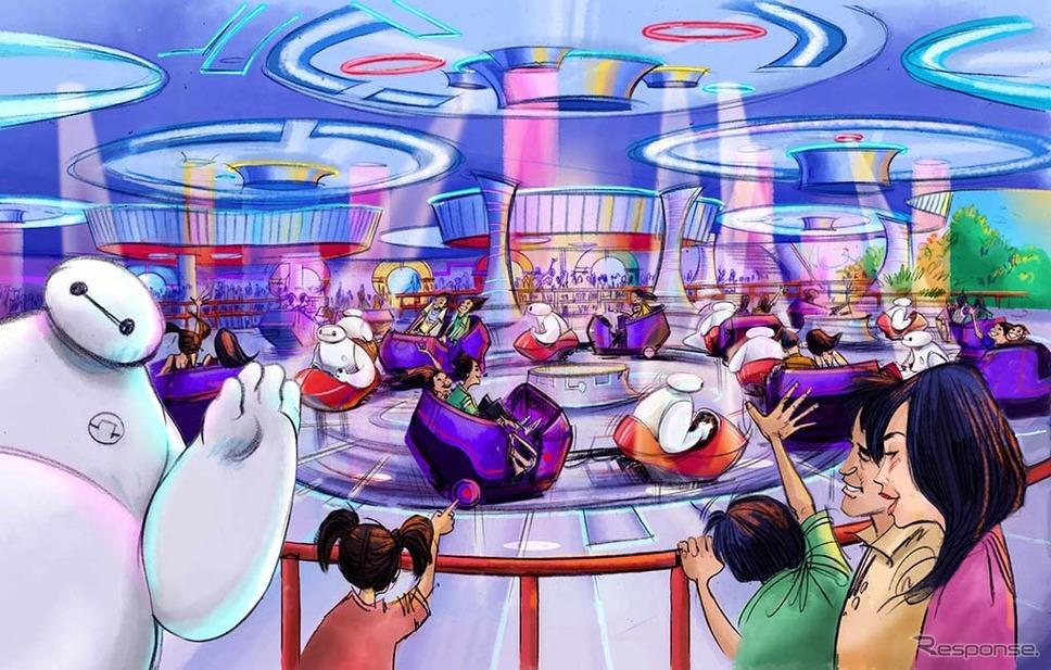 ベイマックスのハッピーライド、体験シーン(画像はイメージ) (c)Disney