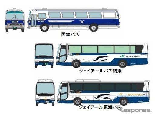 ザ・バスコレクション「東名ハイウェイバス50周年記念セット」《画像 NEXCO中日本》
