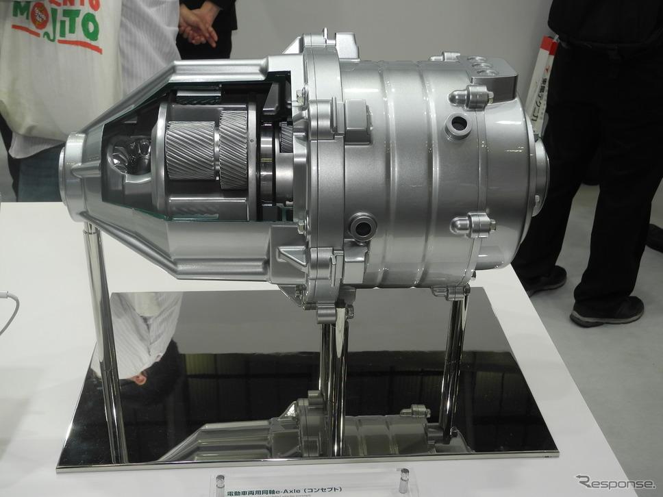 「e-Axle」のコンセプトモデル(人とくるまのテクノロジー2019)《撮影 山田清志》