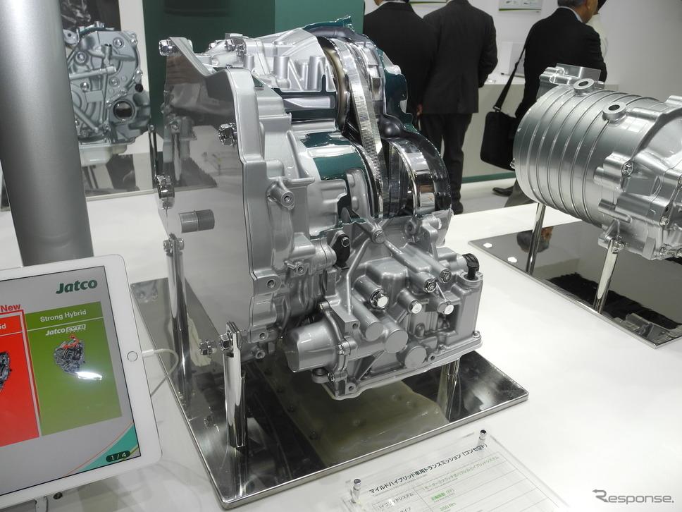 マイルドハイブリッド車用トランスミッションのコンセプトモデル(人とくるまのテクノロジー2019)《撮影 山田清志》