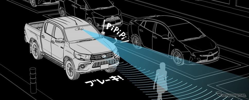 プリクラッシュセーフティ作動イメージ《写真 トヨタ自動車》