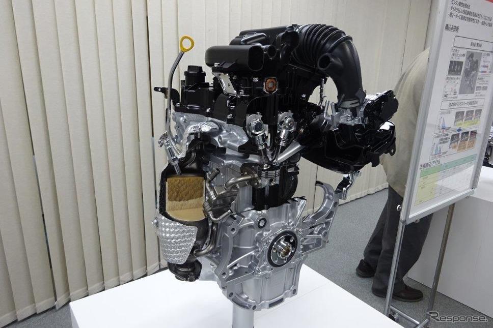 ダイハツ 軽自動車用のマルチスパークエンジン《撮影 池原照雄》