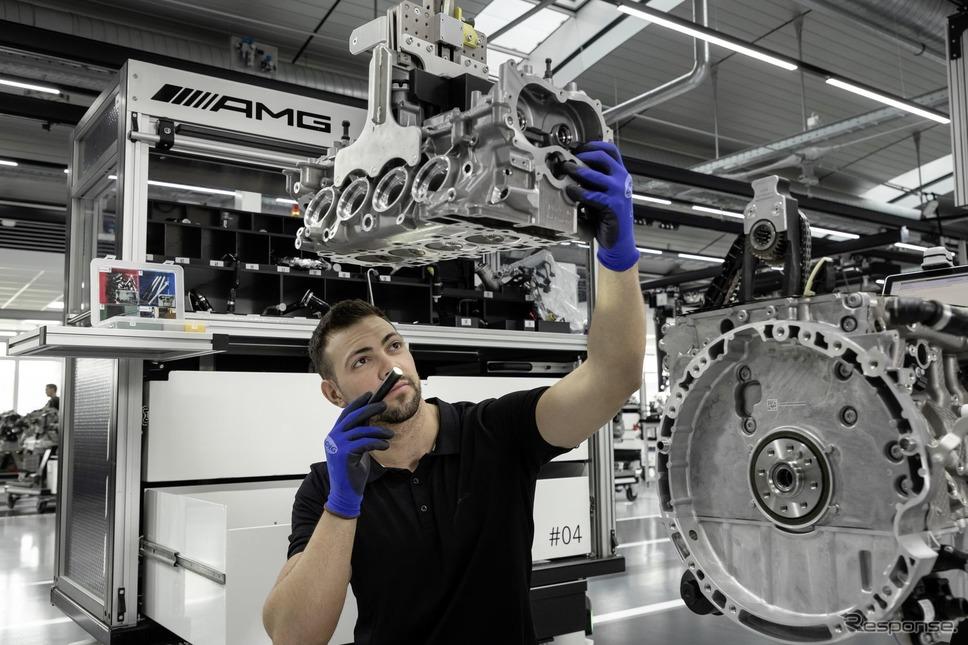 メルセデスAMGの「M139型」新2.0ターボ《photo by Mercedes-Benz》