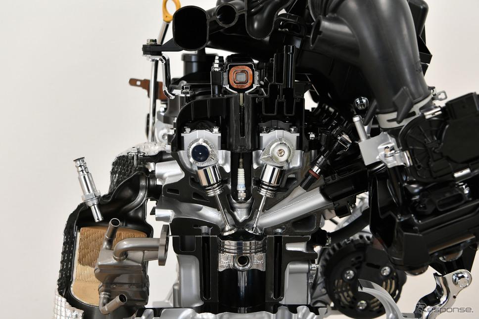 ダイハツ タント 新型のエンジン《撮影 雪岡直樹》