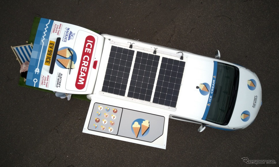 日産 e-NV200 のアイスクリームバンコンセプト《photo by Nissan》