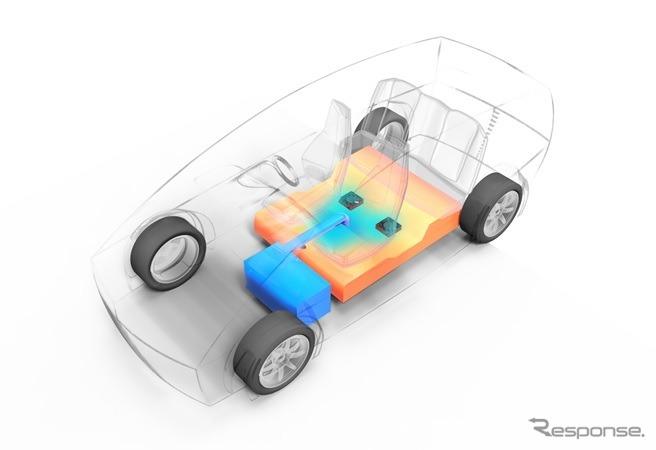 リチウムイオンバッテリー温度管理システム《画像 サンデン・アドバンストテクノロジー》