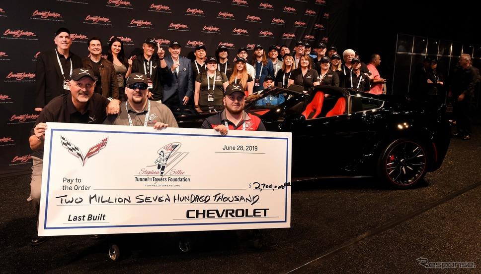 現行シボレー・コルベットの最終モデルがバレットジャクソンで270万ドルで落札《photo by Barrett-Jackson》
