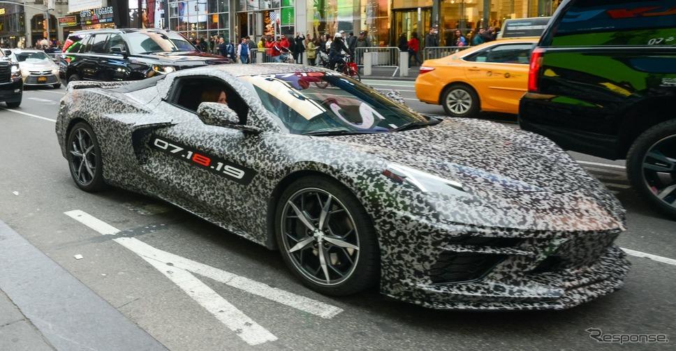 シボレー・コルベット 新型の開発プロトタイプ《photo by Chevrolet》
