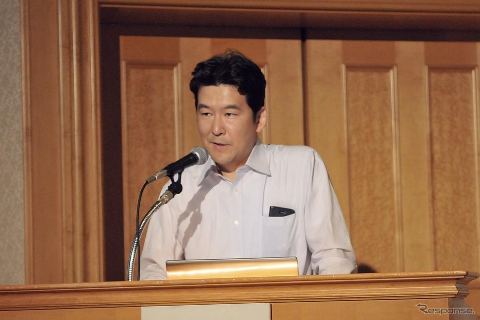 大成建設 生産技術開発部の青木浩章氏《写真 丹羽圭》