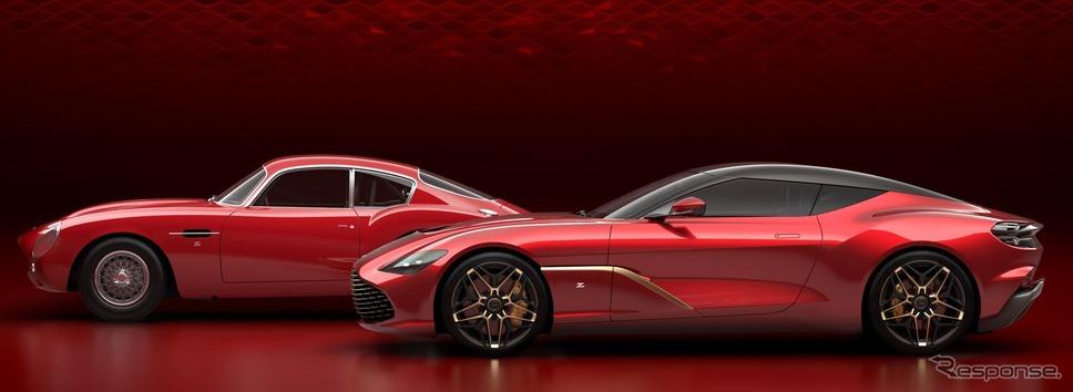 アストンマーティン DBS GT ザガートの最終デザイン。左は1960年のDB4 GTザガート《photo by Aston Martin》