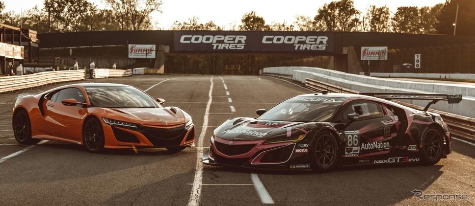 ホンダ NSX 、市販車とレーサーが対決…類似点と相違点は?[動画]《photo by Acura》