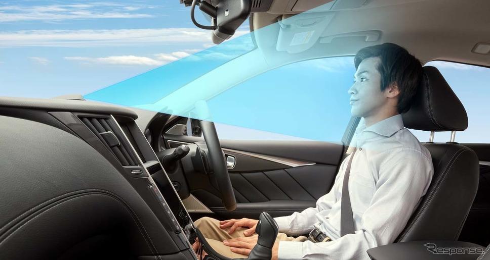 一定条件下での「手放し運転」を可能にした《写真 日産自動車》